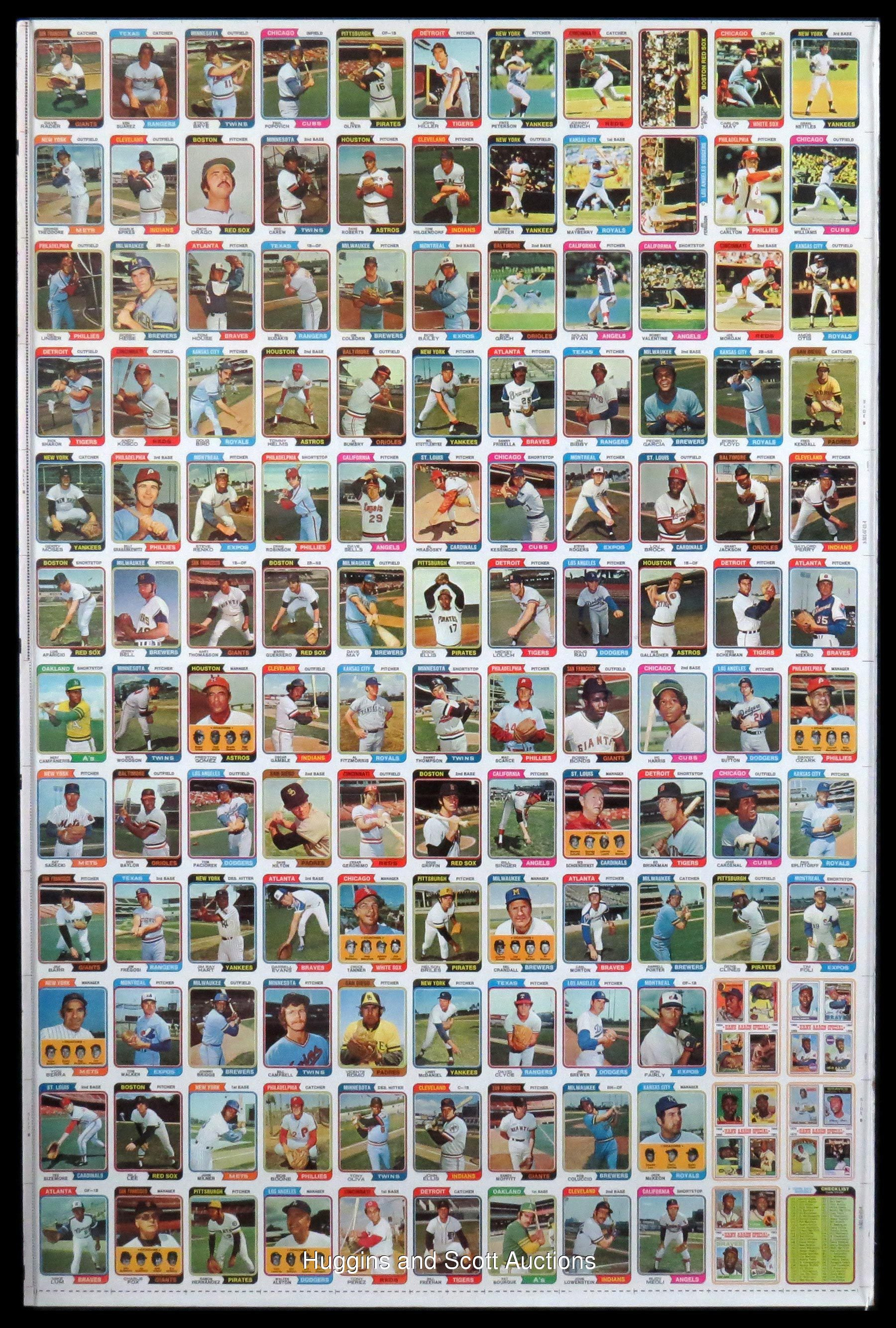 67 1974 1992 Multi Sport Uncut Sheets With 1974 Topps