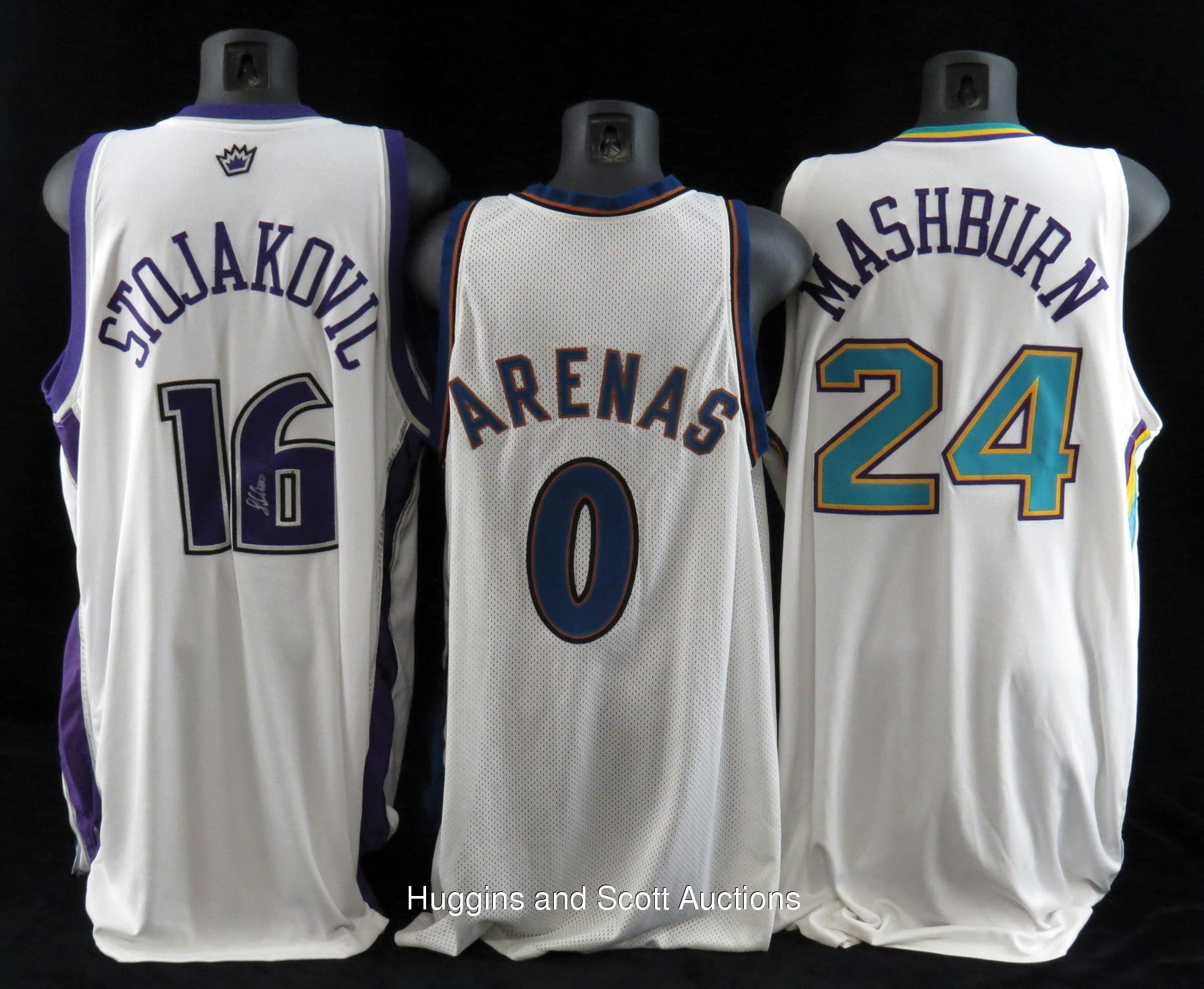 f41d0a9bf6e NBA Stars Game-Worn Jersey Lot of (6) With Arenas and Marion